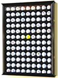 108 Golf Ball Display Case Cabinet Wall Rack Holder w/ UV Protection -Black