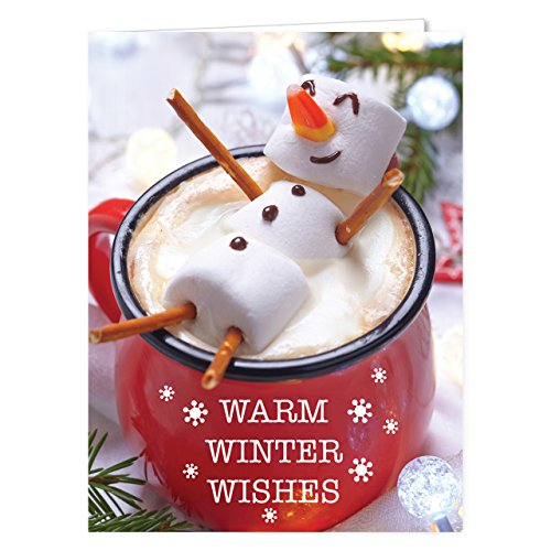 Cocoa Snowman Holiday Card Pack - Set of 25 cards - 1 design, versed inside with envelopes (Cards Christmas)