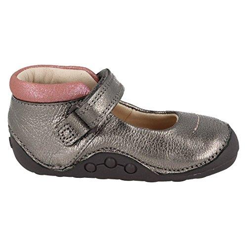 Clarks ,  Mädchen T-Spangen Sandalen mit Keilabsatz Plateado - metálico