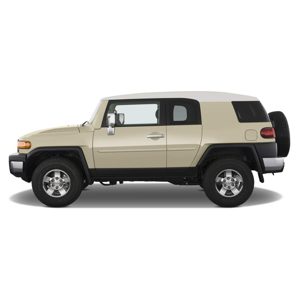 Army Rock Green 6V7 Dawn Enterprises FE-FJ Finished End Body Side Molding Compatible with Toyota FJ Cruiser