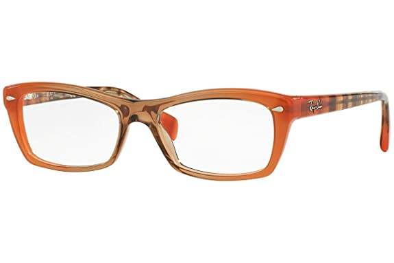 13fe280af0 Amazon.com  RAY-BAN RX5255-5487 Eyeglasses Gradient Brown On Orange 53mm   Shoes