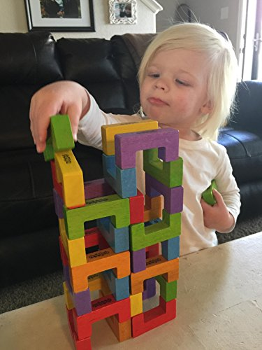 Beginagain - U-Build Its, Construction & Pattern Blocks, Help Promote Early Math, Spatial, & Fine Motor Skills, 48Piece Playset (for Kids 2 & Up)