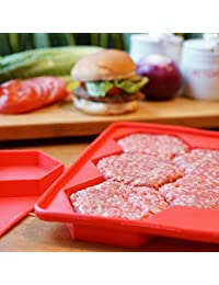 Purchase 5 in 1 Silicone Stuffed Burger Press and Freezer Container - FDA Approved & BPA FREE 100% Food Grade Silicone... wholesale