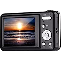 Digital Camera,Bigaint BG007 2.7 TFT 1280x720 5X Optical Zoom 15MP HD Anti-shake Smile Capture Digital Video Camera-Black