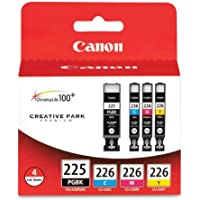 Canon PGI-225BK Black and CLI-226 C/M/Y Color Ink...