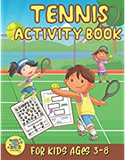 tennis activity book for kids ages 3-8: Tennis gift for kids ages 3 and up