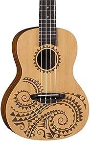 Luna Guitars Tattoo Concert Spruce Ukulele w/Gig Bag