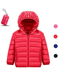 Kid's Puffer Down Jacket Ultra-Light Hooded Jacket Packable Coat