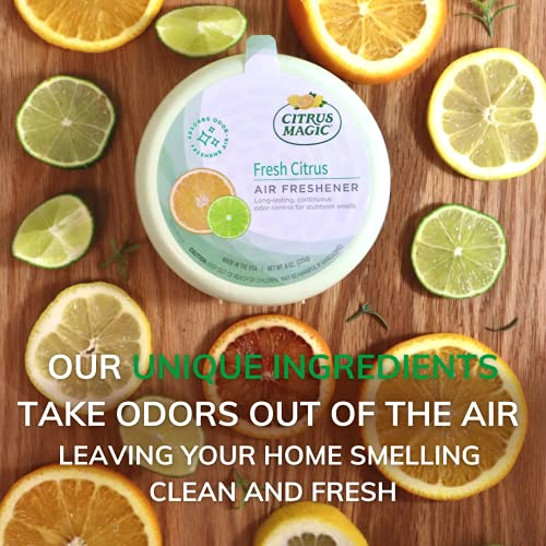 Citrus Magic Odor Absorbing Solid Air Freshener, Fresh Citrus, 8-Ounce, Pack of 3
