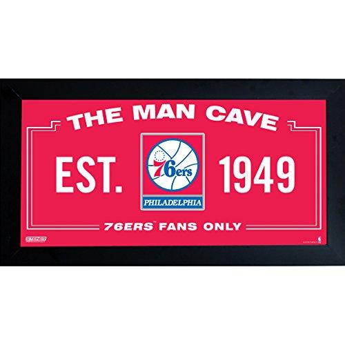 Steiner Sports Memorabilia Philadelphia 76ers Man Cave Sign, Red, 10