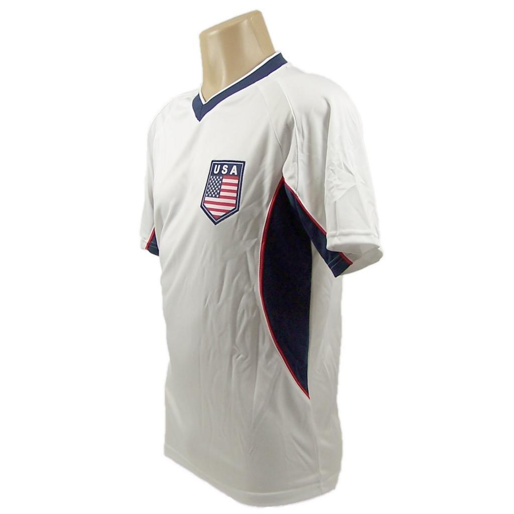 USAサッカーホワイト角度付きパネル2014トレーニングジャージー