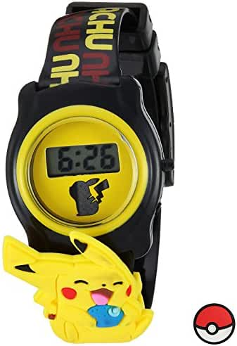 Pokemon Quartz Plastic Casual Watch, Color:Black (Model: POK3085)