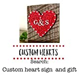 Red string art sweet and small heart sign