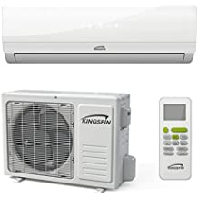 KINGSFIN Mini Split Ductless AC Air Conditioner and Heat Pump 18000 BTU / 230V 15 SEER Complete System (18000 BTU / 230V) (18000 BTU / 230V)