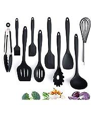 Adkwse Keukenset van siliconen, kookbestek, geavanceerde hittebestendige keukenapparaten, kookaccessoires, anti-aanbak-keukenbakgereedschap, garde, grilltangen enz