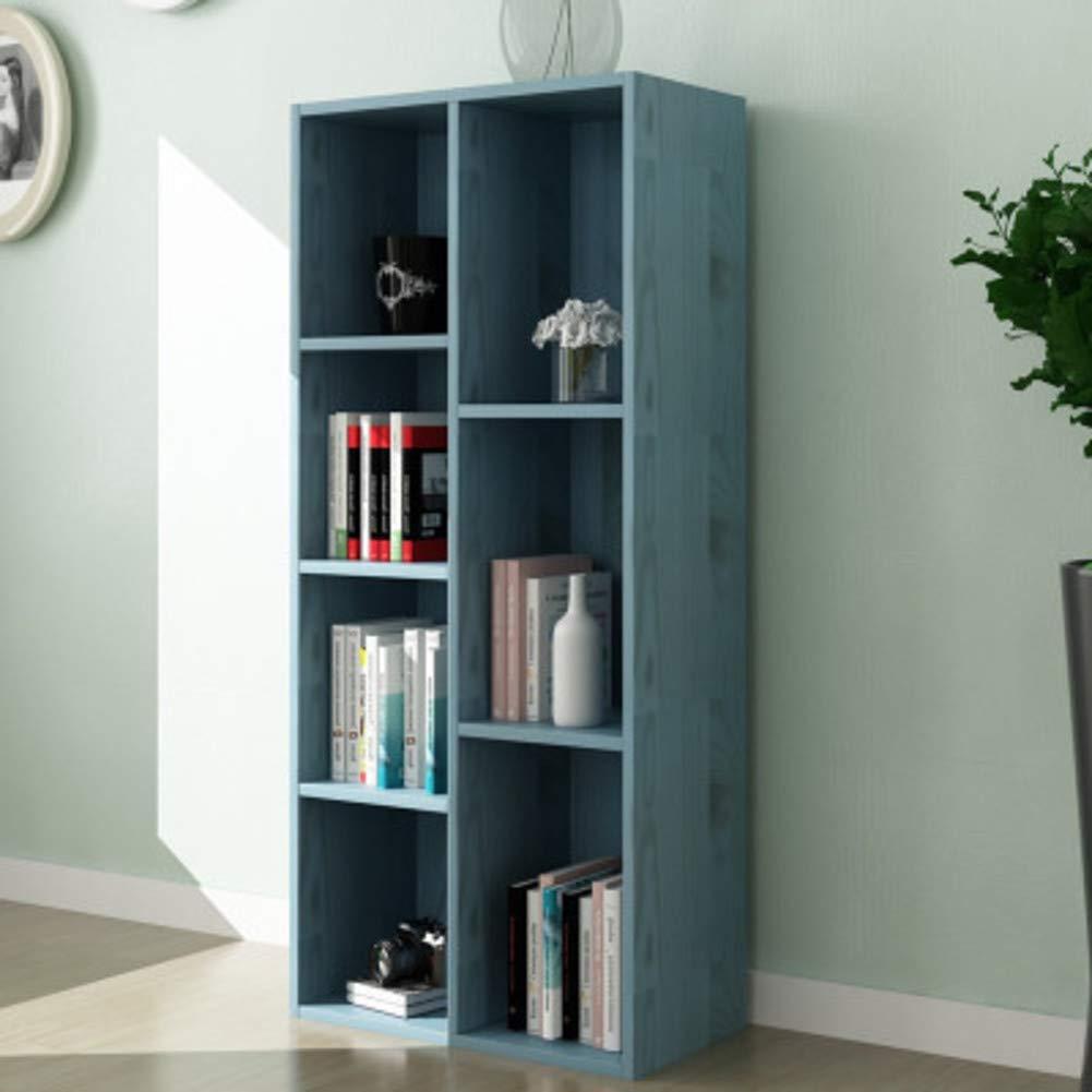 M 50x24x106cm(20x9x42inch) 8-Cube Floor Standing Bookcase, Multi-Layer Storage Cabinet, Simple Storage Rack Display Shelves Bookshelf Organizer for Office-q 96x24x80cm(38x9x31inch)