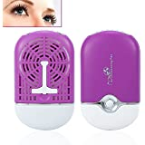 Portable Cooling USB Mini Fan Air Conditioning Blower Eyelash Extension Glue Quick Dry Tool (Purple)