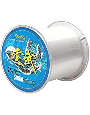 500 Meters Monofilament Fishing Line, Strong Tension Clear Nylon Fishing Line About 0.26mm in Diameter High Impact Fishing Wire