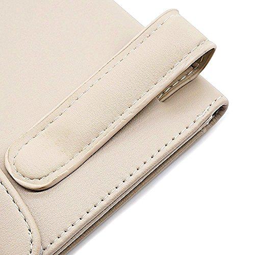 LOCEN Car Sun Visor Tissue Case Napkin Holder Clip Beige