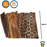 """123 Treats Beef Esophagus for Dogs 6"""" 