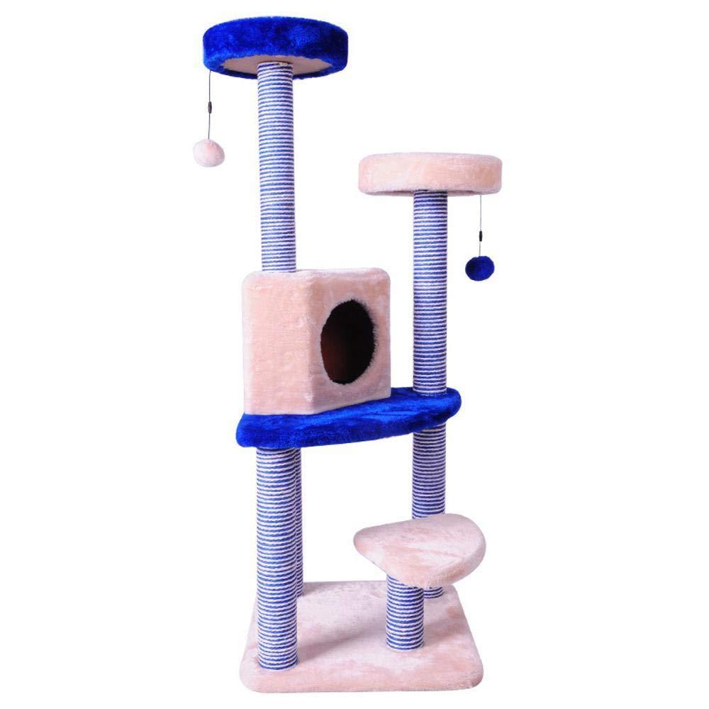 Dixinla Cat climbing frame Large cat toy glass cardboard column Cat Scratch Board plush cat jumping cat grab post 43  43  120cm