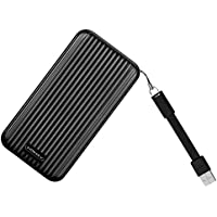 MOMAX 10000mAh Battery Pack, Dual USB Compact Power Bank with 4.8A Output Patented Both sides Insert USB Port AutoMax Technology for iPhone, iPad and Samsung Galaxy and More(Black)