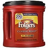 Folgers FOL00367EA Ground Coffee, Regular, 33.9 oz. Can, Ground Coffee, Regular