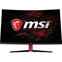 """MSI Full HD Gaming Red LED Non-Glare Super Narrow Bezel 1ms 1920 x 1080 165Hz Refresh Rate FreeSync 32"""" Curved Gaming Monitor (Optix AG32C)"""