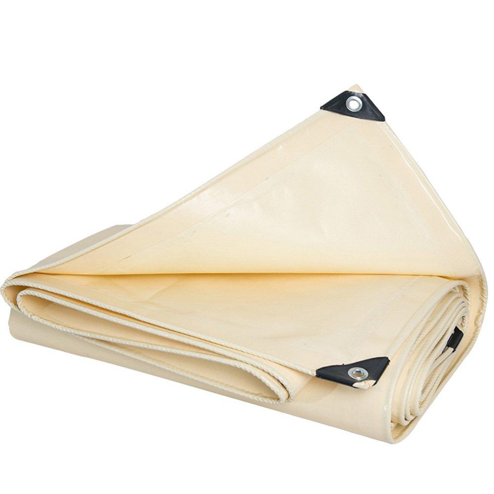 PJ Zelt Wasserdichtes Tuch Wasserdichtes Plane, Hochleistungs-Mehrzweck, Outdoor Weiß 600g m², 0.48mm Es ist Weit verbreitet