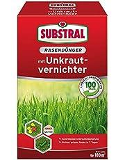 Substral Gazonmest met onkruidverdelger, professionele kwaliteit met 100 dagen langdurige werking en onkruidverdelging in één handeling, 0,8 kg voor 40 m²