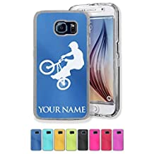 Personalized Case/Cover for Galaxy S6 Edge - Bmx Rider - Engraved for FREE