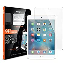 iPad Mini 4 Screen Protector, Spigen® [Tempered Glass] Easy-Install Wings [Glas.tR SLIM] Most Durable Rounded Edge Glass Screen Protector for Apple iPad Mini 4 (SGP11801)