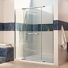 DreamLine Vitreo-X Frameless Pivot Shower Door and SlimLine 36-Inch by 60-Inch Shower Base Right Hand Drain, DL-6449R-01CL, Chrome Finish