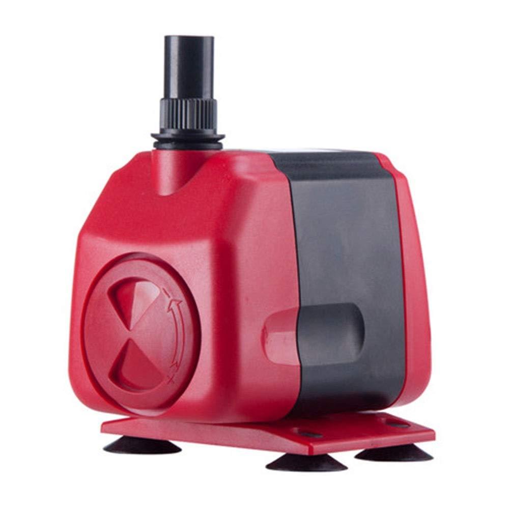 LIFUREN Pompa di Ossigeno per Acquario Pompa di Circolazione Multifunzione Pompa Sommergibile Muto Acquario Pompa Domestico (colore   Rosso, Dimensioni   18W)
