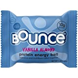 Bounce Vanilla Almond Protein Energy Ball – Whey Protein, Gluten Free, Non-GMO, Vegetarian, On The Go  Snack – 1.48 Ounce, 12 count