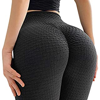 A AGROSTE Women's High Waist Yoga Pants Tummy Control Slimming Booty Leggings Workout Butt Lift Tights