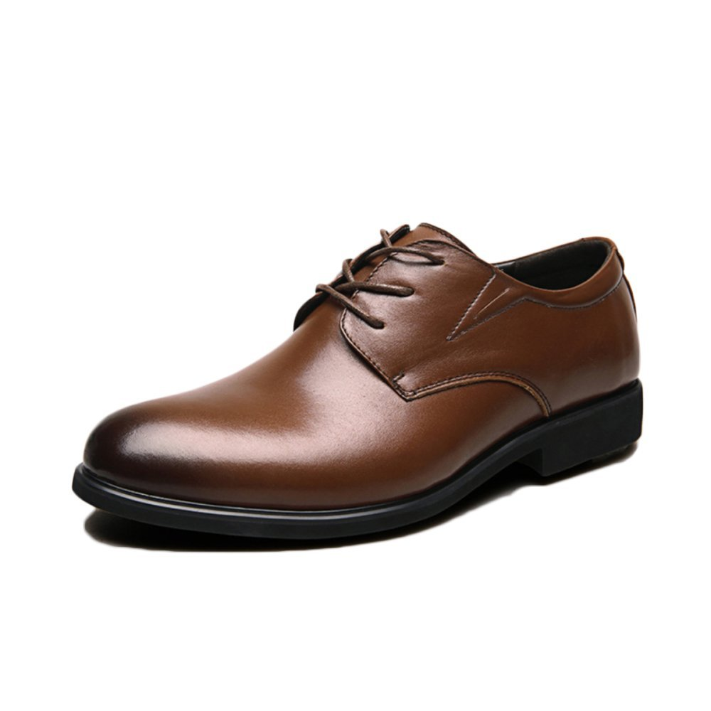 Snfgoij Herren Lederschuhe braun Tie Casual Casual Casual Soft Commerce Frühjahr Leder Formalwear Herrenschuhe Atmungsaktiv 37cca2