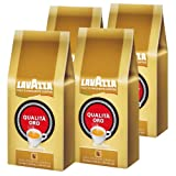 Lavazza Qualita Oro Coffee Beans, 1000g (Pack of 4, Total 4000g)