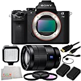 Sony Alpha a7II Mirrorless Digital Camera + Sony Vario-Tessar T* FE 24-70mm f/4 ZA OSS Lens + 9 Piece Essentials Bundle Kit