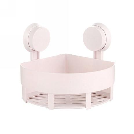 Amazon.com: Bathroom/Toilet Strong Vacuum Suction Cup Corner Shelf ...