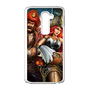 LG G2 Cell Phone Case White League of Legends MissFortune 008 PW1550467