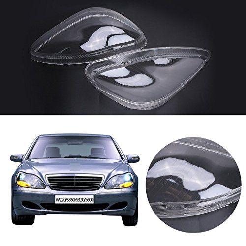 (E-Most Headlight Headlamp Clear Lens Plastic Shell Cover For Mercedes Benz W220 S350 S600 2000-2006 )