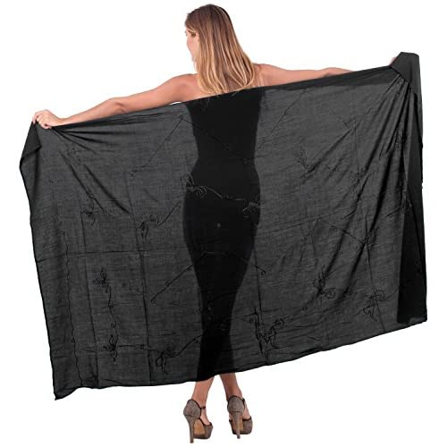 *La Leela* doux sarong de broderie maillots de bain bikini maillot de bain taille plus couvrir jusqu'à wrap 3x jupe