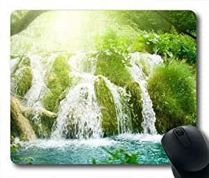 Paradise Waterfall Oblong Shaped Mouse Pad