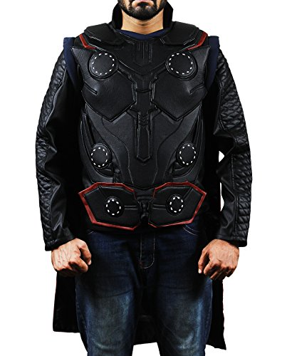 Avengers Infinity War Chris Hemsworth Captain America Thor Real Leather Vest Costume (Real Thor Costume)