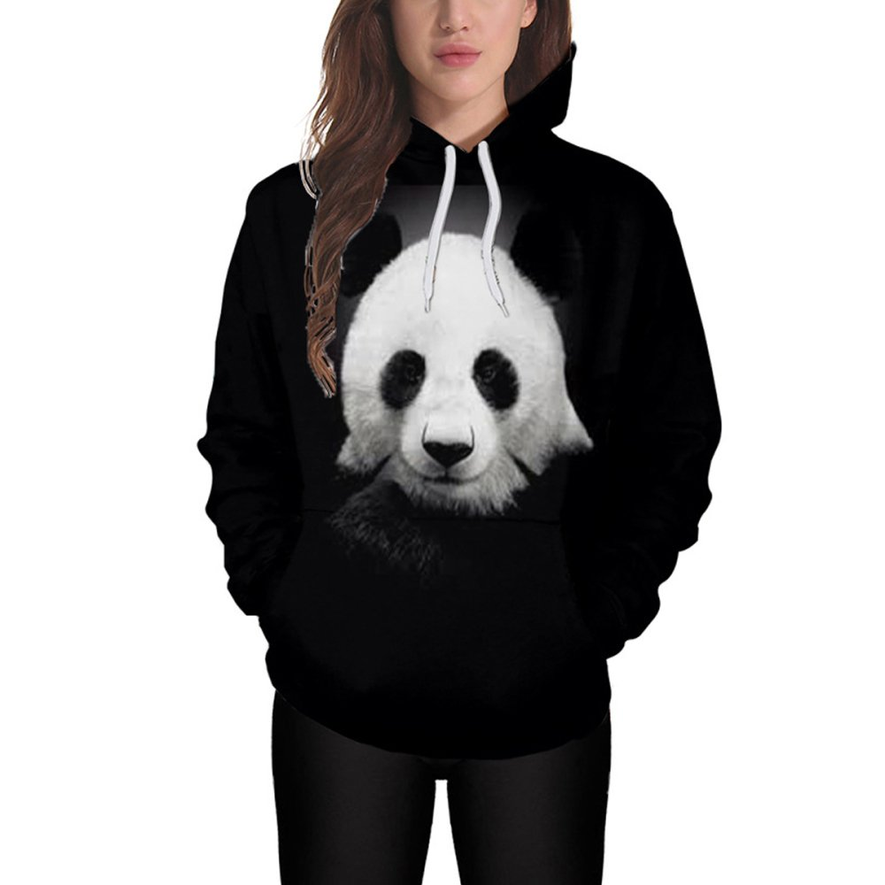 Sudadera Unisex Estampado 3D Sudadera Panda Estampado Hombre ...