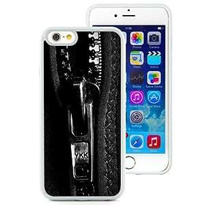 NEW Unique Custom Designed iPhone 6 4.7 Inch TPU Phone Case With Hoodie Zipper_White Phone Case