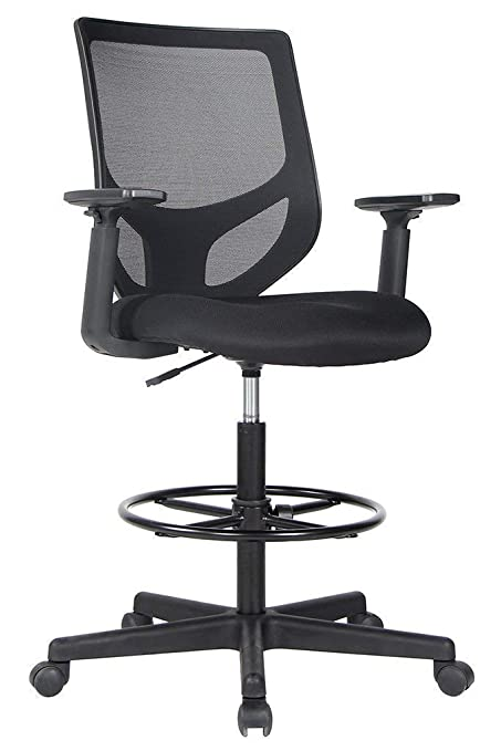 Bon Amazon.com : Smugdesk Drafting Chair Tall Office Chair For Standing Desk  Drafting Mesh Table Chair With Adjustable Armrest And Foot Ring : Office  Products