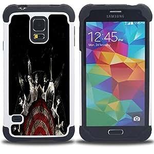 - cool target fear black dark - - Doble capa caja de la armadura Defender FOR Samsung Galaxy S5 I9600 G9009 G9008V RetroCandy