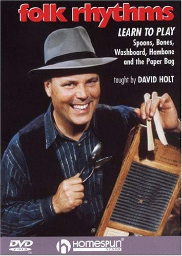 DVD-Folk Rhythms-Learn To Play Spoons,Bones,Washboard,Hambone and the Paper (Rhythm Method Band)